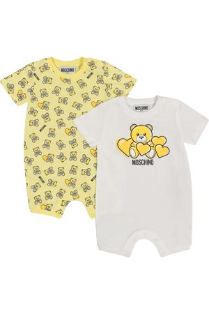 Moschino Set of 2 stretch-cotton onesies