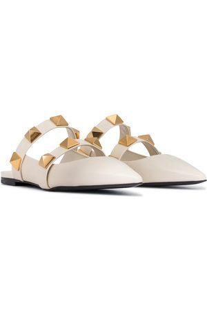 VALENTINO GARAVANI Roman Stud leather slippers