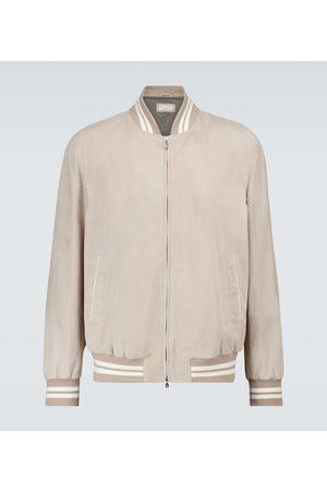 Brunello Cucinelli Men Leather Jackets - Suede bomber jacket