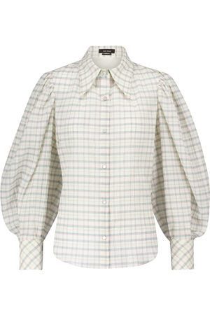Isabel Marant Fanua cotton and silk checked blouse