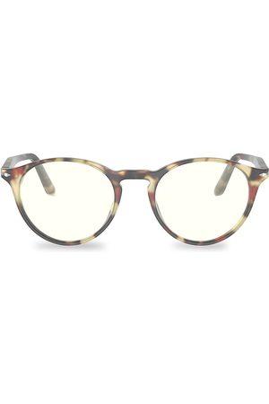 Persol Men's 51MM Round Optical Glasses - Havana