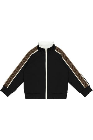 Fendi Boys Hoodies - FF jersey track jacket