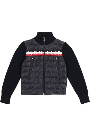 Moncler Down and cotton cardigan