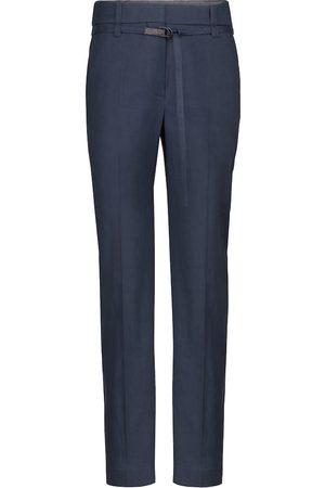 Brunello Cucinelli Linen and cotton straight pants