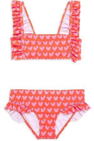 Stella McCartney Little Girl's & Girl's 2-Piece Heart-Print Swim Set - - Size 5