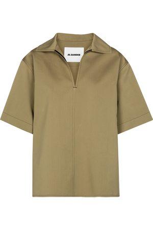 Jil Sander Cotton and silk blouse