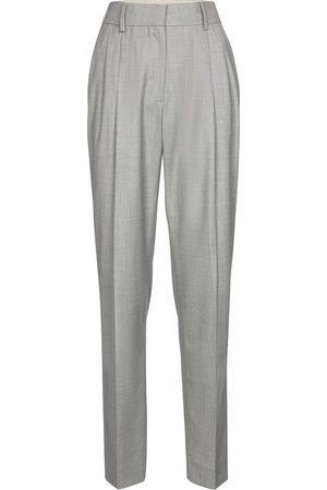Blazé Milano Women Wide Leg Pants - Banker high-rise wide-leg wool pants