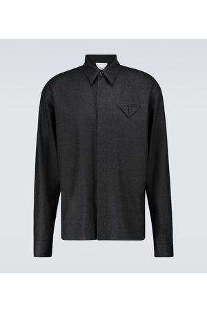 Bottega Veneta Men Casual - Wool flannel shirt