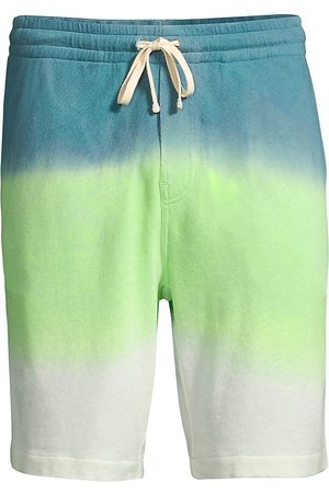 Ralph Lauren Women Shorts - Women's French Terry Ombre Drawstring Shorts - Cruise Lime - Size Small