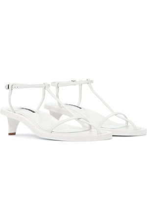 Jil Sander Women Sandals - Caged leather sandals