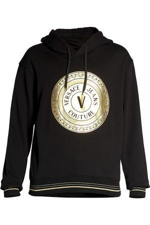 VERSACE Men's Coin Logo Hoodie - - Size Small