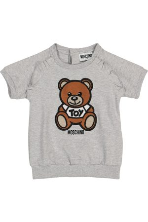 Moschino Baby stretch-cotton jersey dress