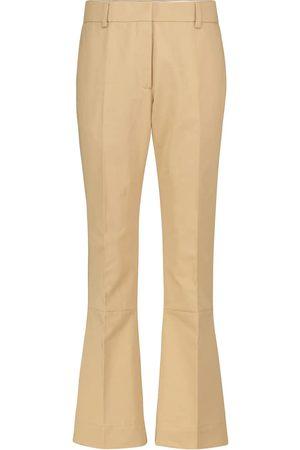 Marni Women Wide Leg Pants - High-rise wide-leg cotton and linen pants