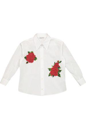 Dolce & Gabbana Embroidered cotton shirt