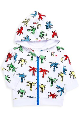 Stella McCartney Hoodies - Baby Boy's Doodly Palms Zip-Up Hooded Sweater - Size 12 Months