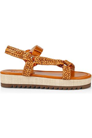Schutz Women Sandals - Women's Jennie Woven Leather Sport Sandals - Inca - Size 10.5