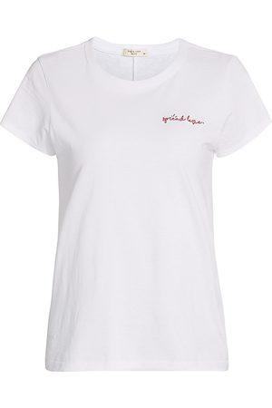 RAG&BONE Women's Spread Love T-Shirt - - Size Large