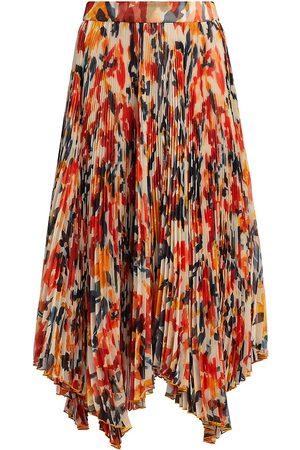 Proenza Schouler Women's Floral Pleated Chiffon Skirt - Mult - Size 2