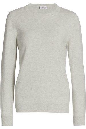Brunello Cucinelli Women's Cashmere Basic Crewneck Sweater - - Size XXL