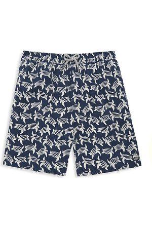 Tom & Teddy Boys Swim Shorts - Little Boy's & Boy's Turtle Swim Shorts - Deep - Size 5-6