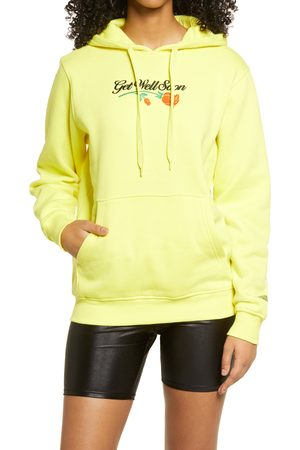 Petals and Peacocks Women's Get Well Soon Embroidered Hoodie