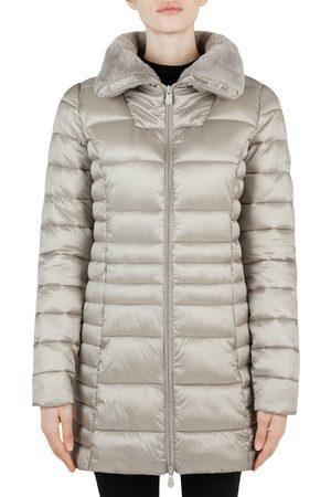 save the duck Women's Faux Fur Collar Puffer Coat