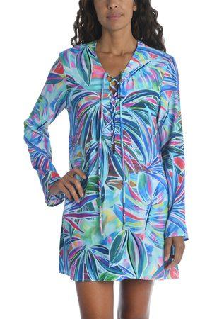 La Blanca Women's Palm Long Sleeve Cover-Up Tunic