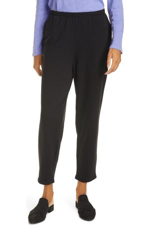 Eileen Fisher Women's Cozy Brushed Terry Tapered Ankle Pants