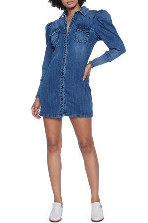 WASH LAB Women's Denim Long Sleeve Shirtdress