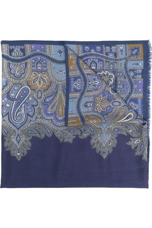 Etro Paisley cashmere-silk blend scarf