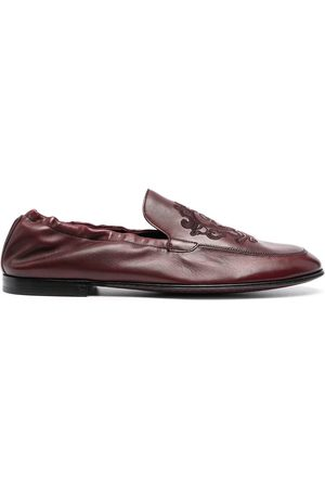 Dolce & Gabbana Men Loafers - Debossed-motif polished-finish loafers