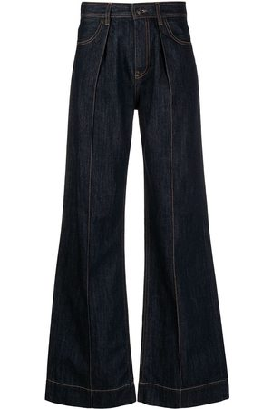 PORTS 1961 Flared dark-wash jeans