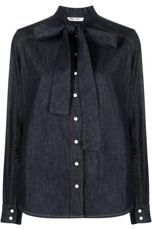 PORTS 1961 Dark-wash denim shirt
