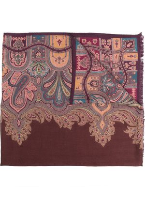 Etro Paisley cashmere-silk blend scarf