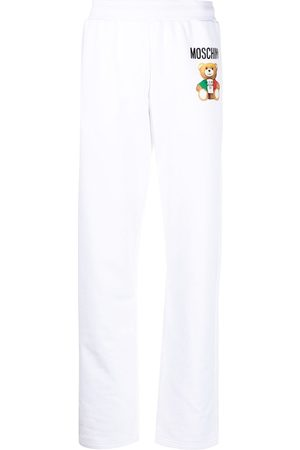 Moschino Teddy-print straight-leg track trousers