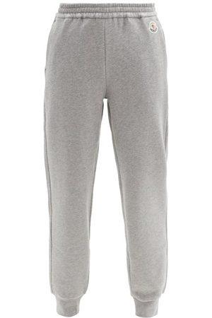 Moncler Logo-patch Cotton-blend Jersey Track Pants - Womens - Grey
