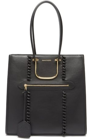 Alexander McQueen The Tall Story Whipstitched Leather Tote Bag - Womens