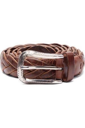 Brunello Cucinelli Men Belts - Woven Leather Belt - Mens