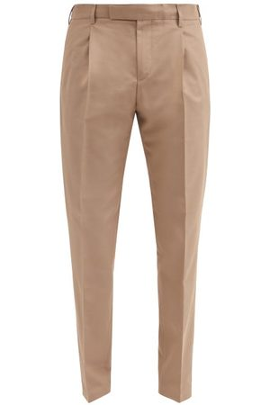 Dunhill Pleated Wool-blend Slim-leg Trousers - Mens