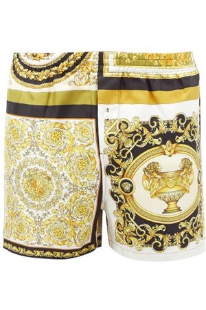 VERSACE Men Pajamas - Baroque-print Silk-twill Pyjama Shorts - Mens - Multi