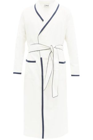 P. Le Moult Piped Belted Cotton-herringbone Robe - Mens - Multi