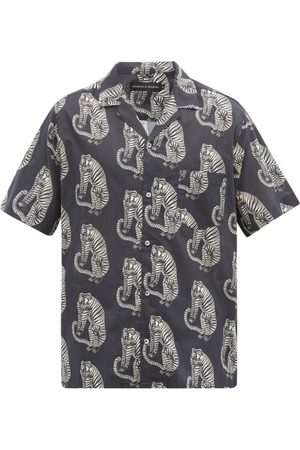 Desmond & Dempsey Men Pajamas - Sansindo Tiger-print Cotton Pyjama Shirt - Mens - Multi