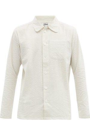 P. Le Moult Striped Cotton-seersucker Pyjamas - Mens - Multi