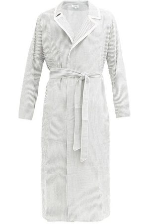 P. Le Moult Striped Cotton-seersucker Bathrobe - Mens - Multi