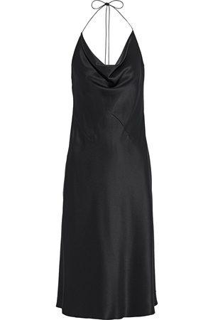 Cushnie Woman Draped Silk-satin Halterneck Slip Dress Size 0