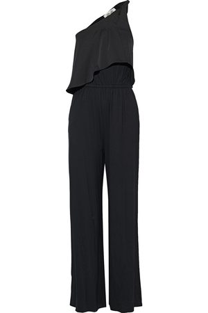 Diane von Furstenberg Woman Rosalyee One-shoulder Crepe De Chine-paneled Stretch-jersey Jumpsuit Size L