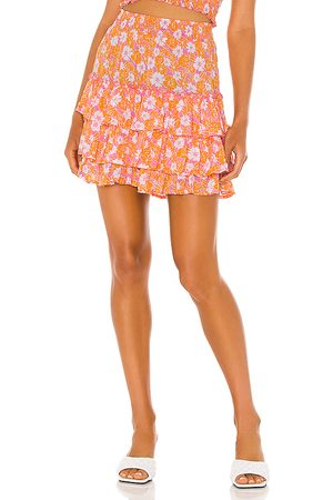 coolchange Penelope Flora Skirt in Orange.