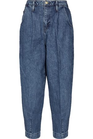 Frame High-rise barrel-leg jeans