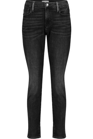 Frame Women Skinny - Le Garçon cropped mid-rise skinny jeans