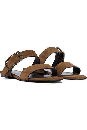 Saint Laurent Oak suede sandals